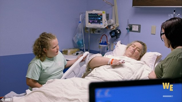 The last episode also saw June recovering from the procedure with daughter Honey Boo Boo by her side