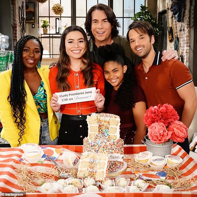Bond: Though McCurdy is not set to return, other original stars joining Cosgrove are Jerry Trainor (pictured top center) and Nathan Kress (far right) who are both confirmed to return. Newcomer Jaidyn Triplett (bottom center) will be portraying Millicent on the show