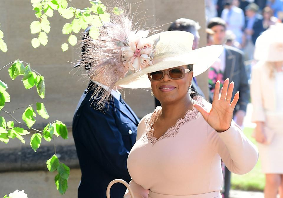 Oprah Winfrey was a wedding guest at the 2018 wedding of Prince Harry and Meghan Markle. (Photo: Ian West/AFP via Getty Images)