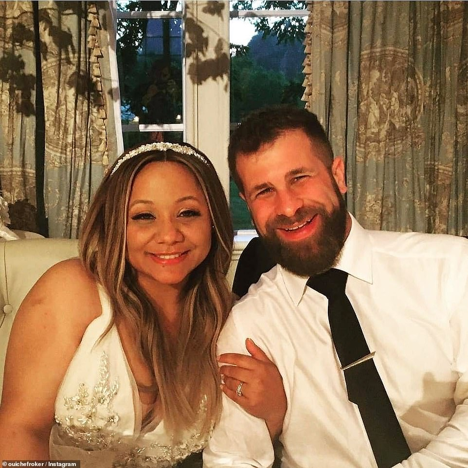 The happy couple: According to his Instagram, Wesley is a DJ, actor, director, teacher and teaching artist