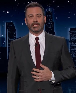 Not okay: Kimmel called her 'Donald Trump in a wig' during Thursday's broadcast of his ABC late-night show