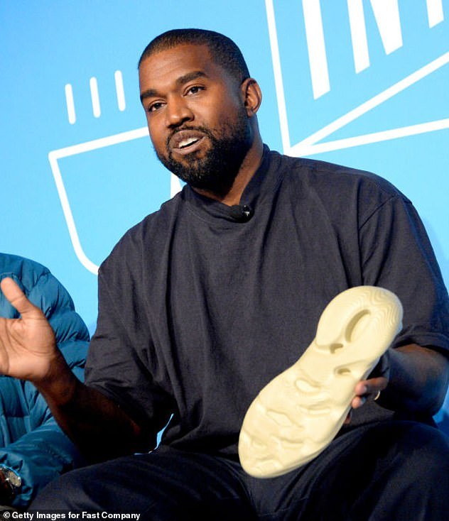 Long-awaited:Donda is West's tenth studio album and the highly-anticipated follow-up to 2019's Jesus Is King; Kanye pictured in 2019