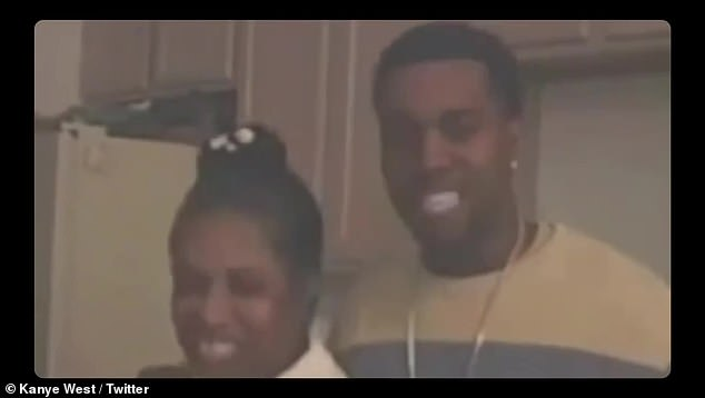 All for her:In conjunction with the Donda song snippet, West uploaded a home movie-laden music video featuring himself and his late-mother