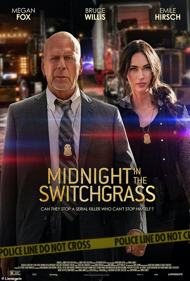Hitting US theaters this Friday! Fox portrays FBI agent Rebecca Lombardi and the 31-year-old pop-punk rocker a sex trafficker in the drama also starring Bruce Willis