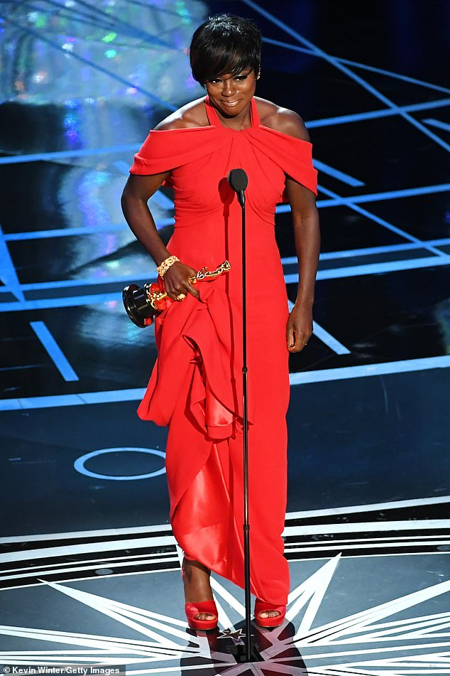 'This is my story... straight no chaser': Davis has had an incredible career culminating in her being only a Grammy Award away from elite EGOT status (pictured in 2017)
