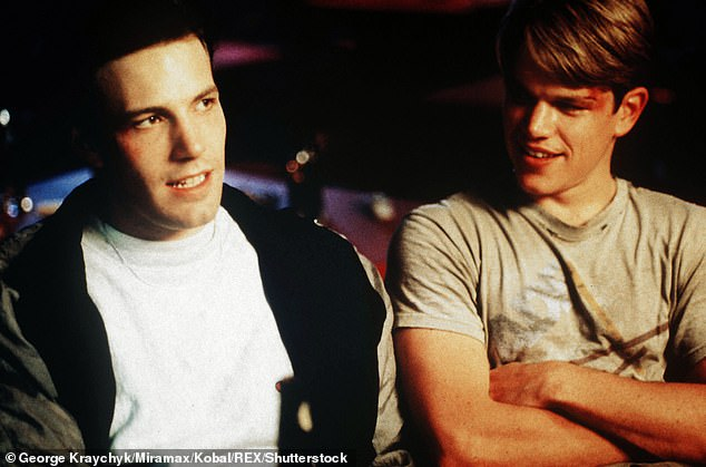 Big hit: Matt and Ben seen in the 1997 hit film Good Will Hunting which they wrote