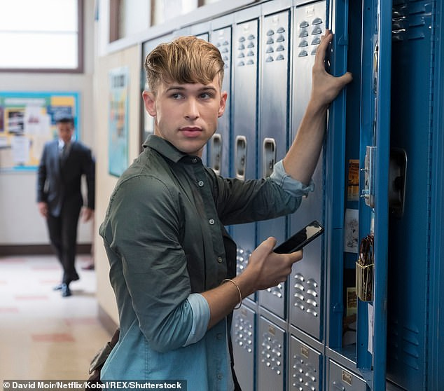 Rising star:On the hit Netflix show, Dorfman played recurring male character Ryan Shaver, who publishes Hannah Baker's problems in the school newspaper without her consent