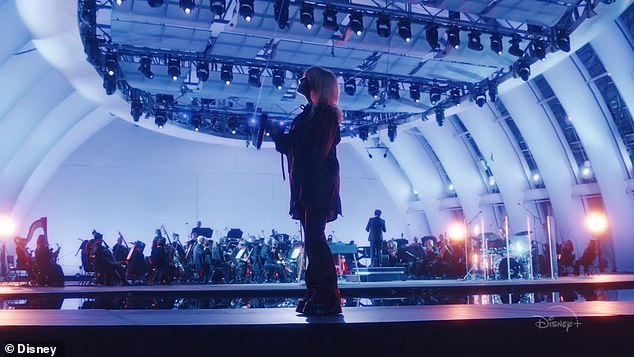 'A self-reflection about growth': The 19-year-old platinum-blonde pop star teamed up with conductor Gustavo Dudamel and the Los Angeles Philharmonic for the show taped at the Hollywood Bowl