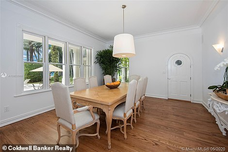 The home was built in 1940, featuring hardwood and marble floors