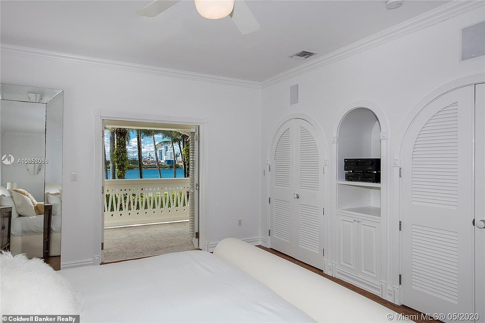 Chic:The bedrooms have views of the water in addition to French doors that lead to the veranda; the rooms have plenty of storage space through arched closets