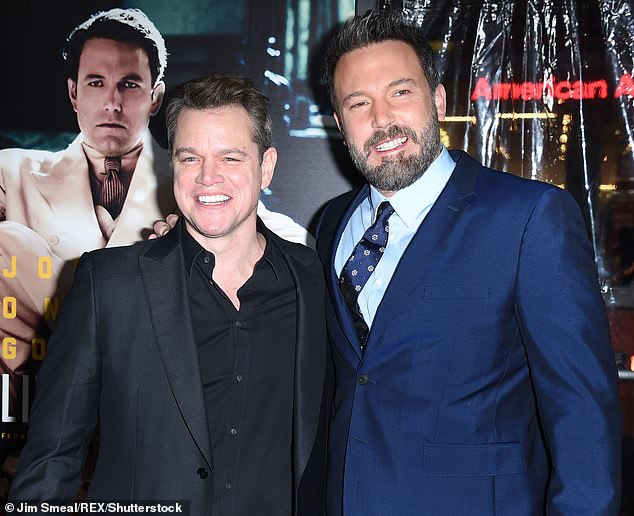 Back on: Matt Damon said he will be writing more in the future with pal Ben Affleck; here thye are seen in 2017
