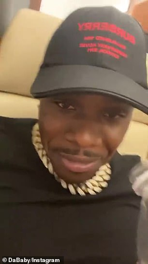 DaBaby responded to Madge by sarcastically smirking and saying via Instastory: 'Hey Mo, don't shake up dem t***ies!'