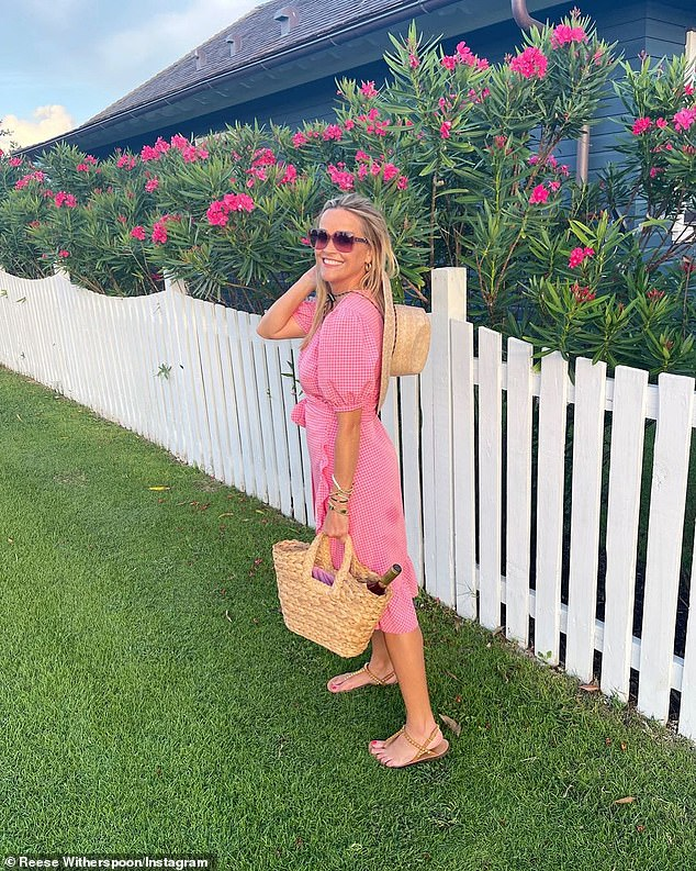 Entrepreneur:In addition to Hello Sunshine, Reese is also the founder of the clothing and home company Draper James; Reese pictured wearing Draper James