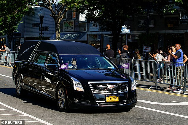 A hearse carrying the Just A Friend artist was applauded by fans on the summer day