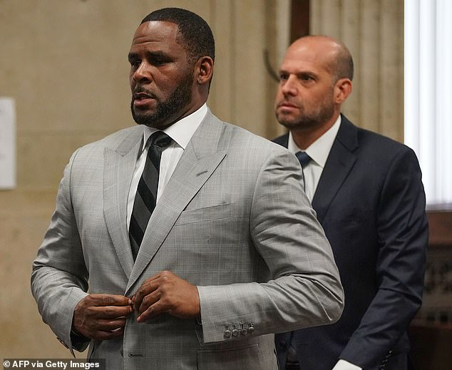 Prejudicial: Attorneys for R. Kelly, 54, claimed in court filings that prosecutors shouldn't be allowed to introduce evidence that he may have molested a 17-year-old boy, as it could inflame anti-LGBTQ jurors, according to TMZ; Kelly is seen in Chicago in 2019
