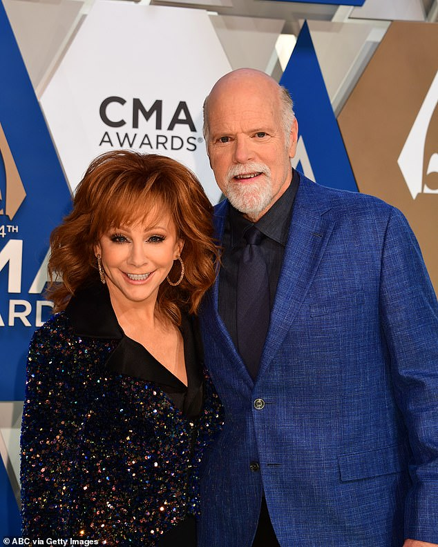 Yikes: Reba was with boyfriend Rex Linn when the staircase collapsed as they toured the building; seen in 2020