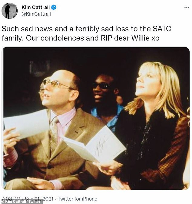 Loss:Cynthia called Willie 'a source of light,' while Cattrall (pictured with Willie) deemed his death 'a terribly sad loss to the SATC family.'