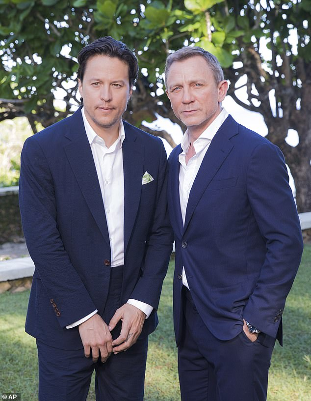 Fukunaga directed the highly anticipated James Bond blockbuster 'No Time To Die' after taking over from Danny Boyle, who left the project due to creative differences. It will be the last to star Daniel Craig as 007 (pictured with Daniel Craig in 2019)