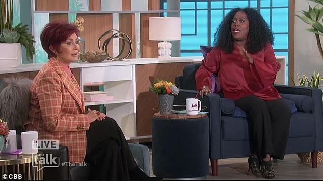 Upset:Furious over how things were handled, Sharon called the showrunners 'weak, weak women' who had hung her out to dry during a tense discussion on race with co-host Sheryl Underwood back in March