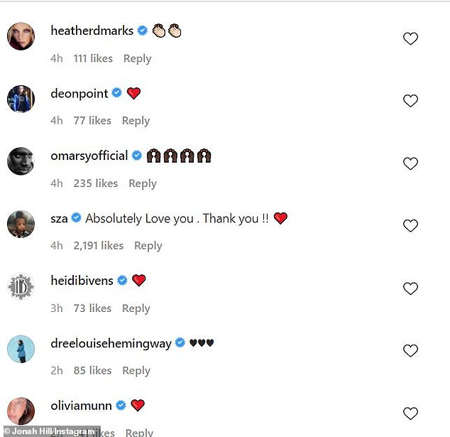 The Oscar-nominated actor received words of support from a number of people in the comment section of the post