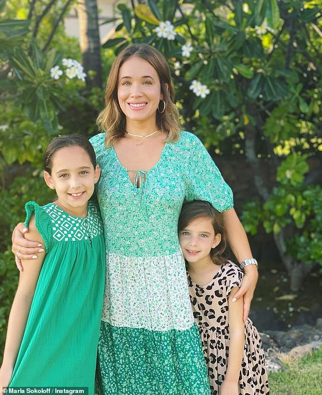 'Don't blink, you just might miss it': Sokoloff recalled the advice a stranger gave her in the market in her early days as a mother while paying tribute to her girls on National Daughters Day