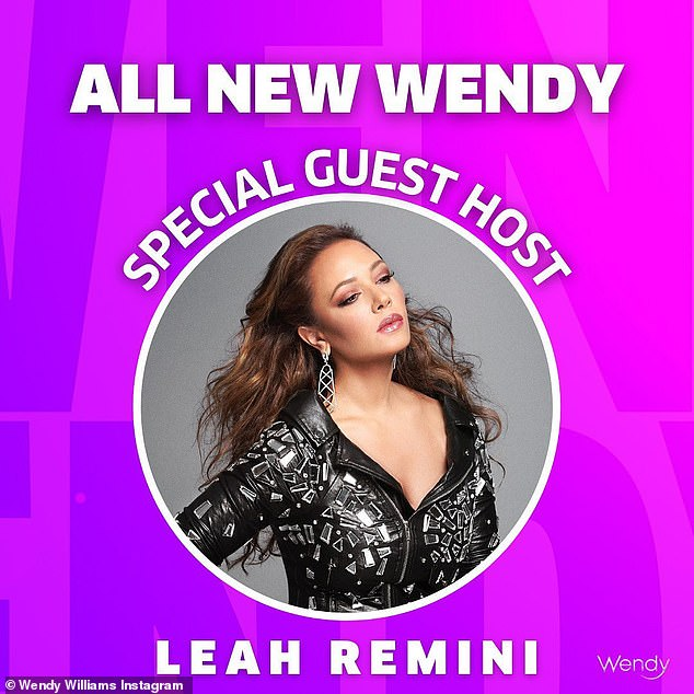 Announcement: The show revealed Remini would be filling in for four episodes next week