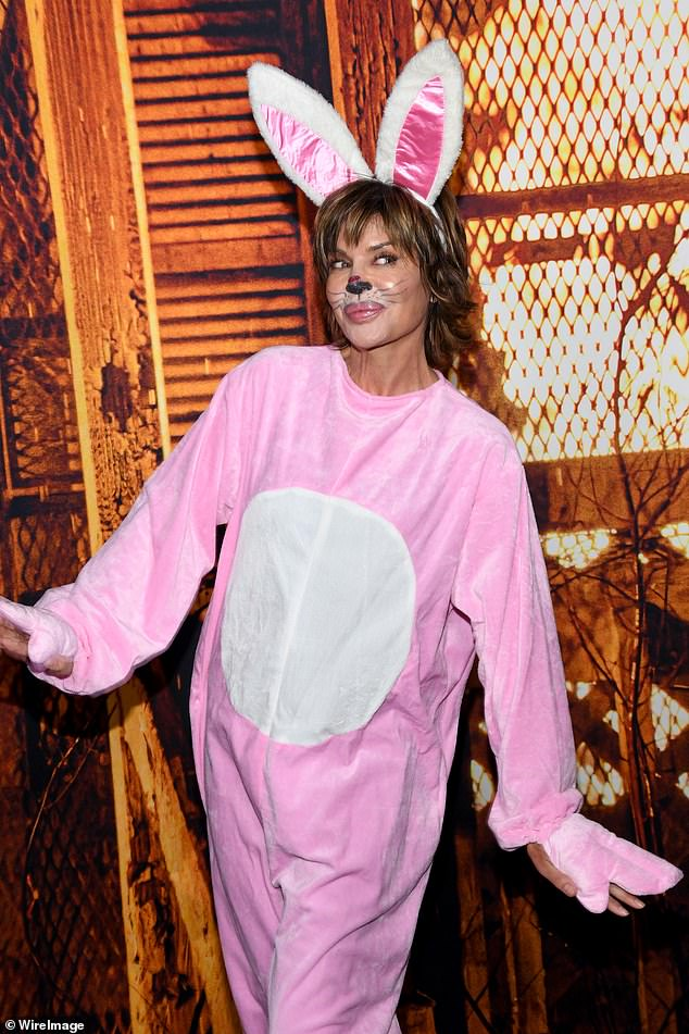 Halloween humor: The Real Housewife ¿ who lives by the mantra 'own it' did just that as she dressed up like a stuffed bunny for the Halloween Kills costume party premiere as a nod to past feud with Kim Richards
